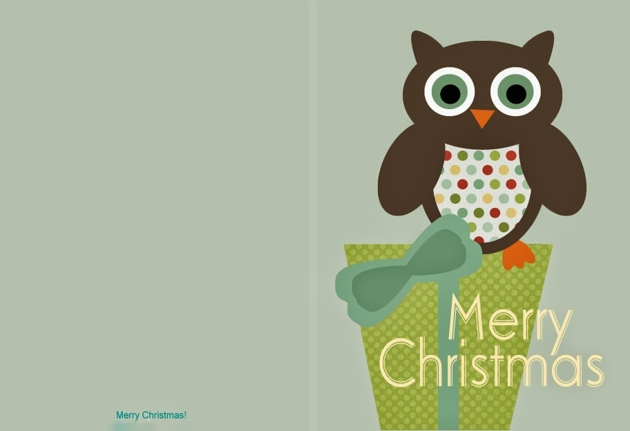 A Holiday Haven: Free Printable Christmas Cards - Cute Owl Cards
