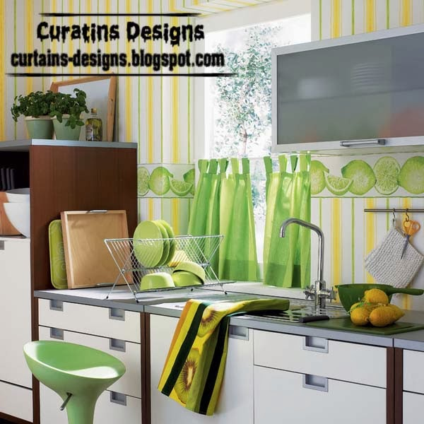 Green Kitchen Curtain Ideas: Best Original Curtains For Home Windows