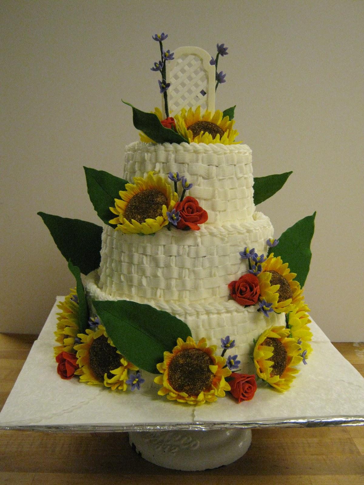 Sunflower Wedding Cake Viewing Gallery