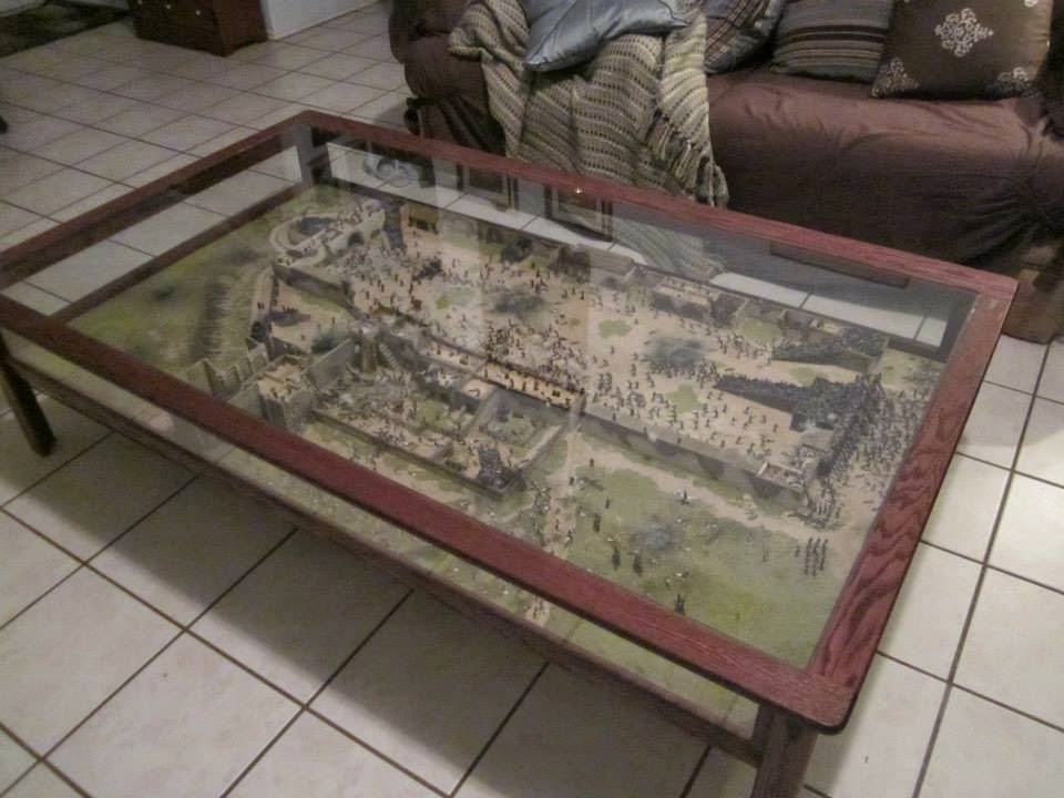 Der feldmarschall coffee table diorama of the alamo