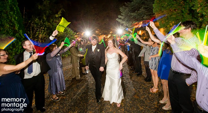 wedding getaway sendoff with glow sticks
