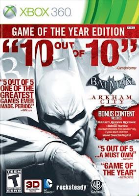 Batman Arkham City goty xbox360