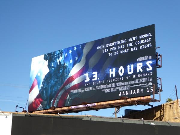 13 Hours Secret Soldiers of Benghazi movie billboard