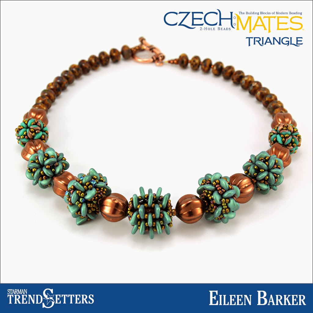 CzechMates Beaded Beads necklace by Eileen Barker