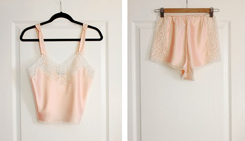 vintage 1970s dior lingerie set with camisole