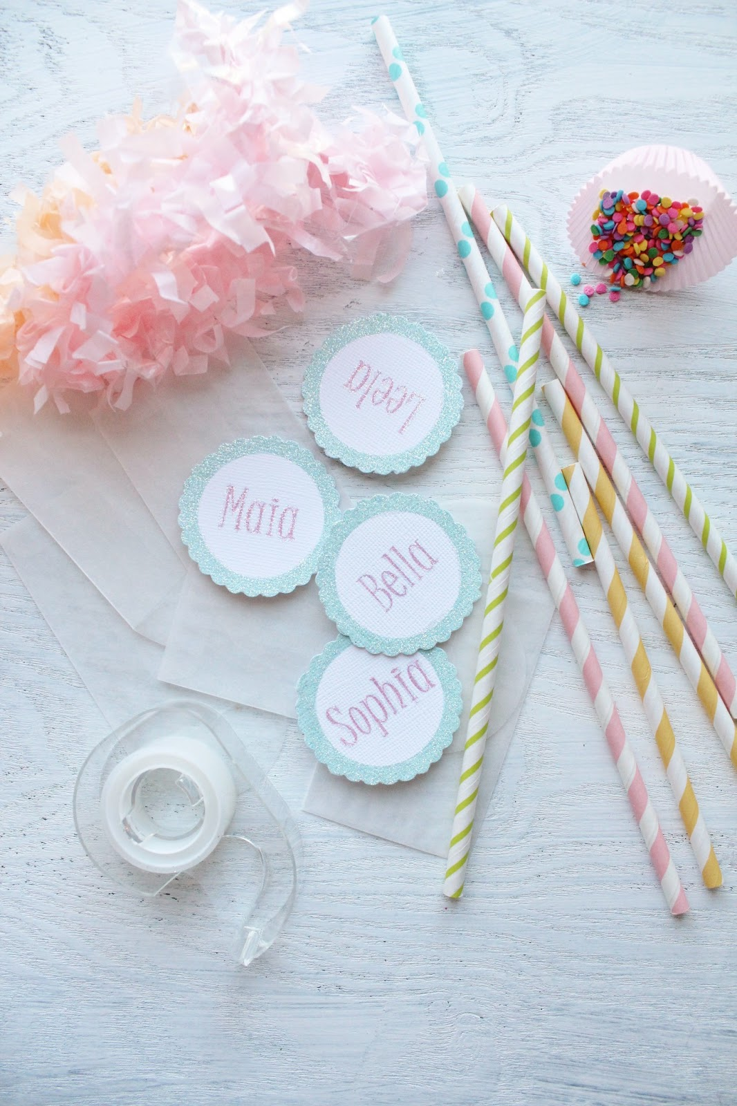 Bj S Cake Decoration Packet : Icing Designs: Sprinkle Packet Cupcake Toppers
