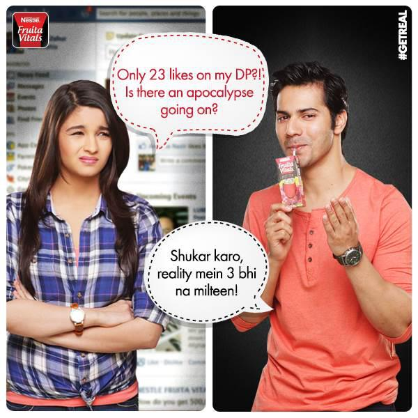 varun dhawan amp alia bhatt at nestle fruita vitals adv shoot bollywood news