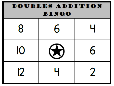Doubles Addition Bingo