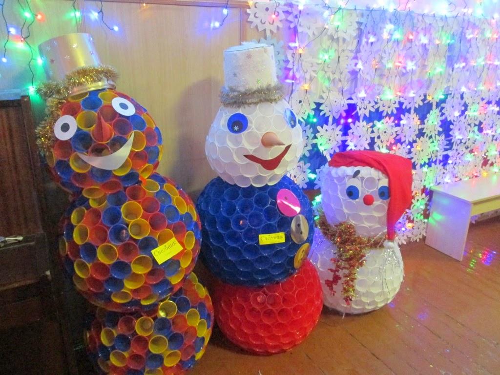 Снеговик из стаканчиков своими руками пошаговое фото 62
