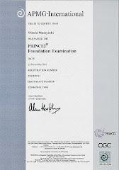 Certyfikat PRINCE2 Fundation