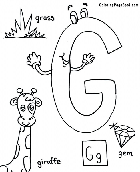 letter g coloring pages for kids