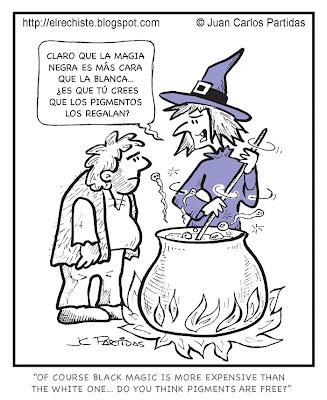 bruja habla de la magia negra y la magia blanca