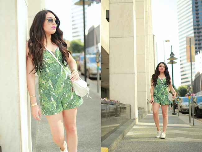 H&M 2015 Summer Palm Printed Romper