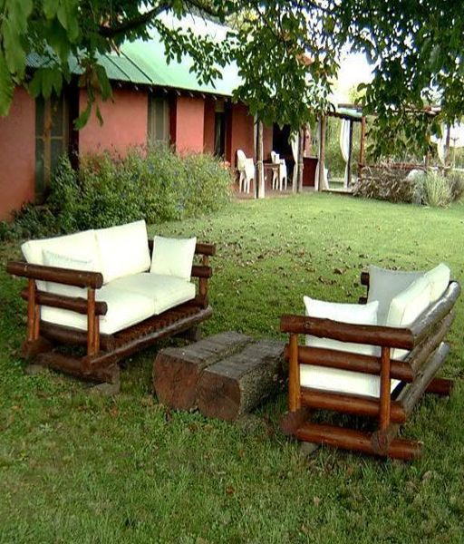 Madera arte muebles rusticos por miguel ruiz juegos de for Bancos de jardin rusticos