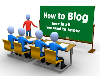 How to blog written on a blackboard for students