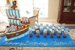 Simple Pirates Birthday Cake
