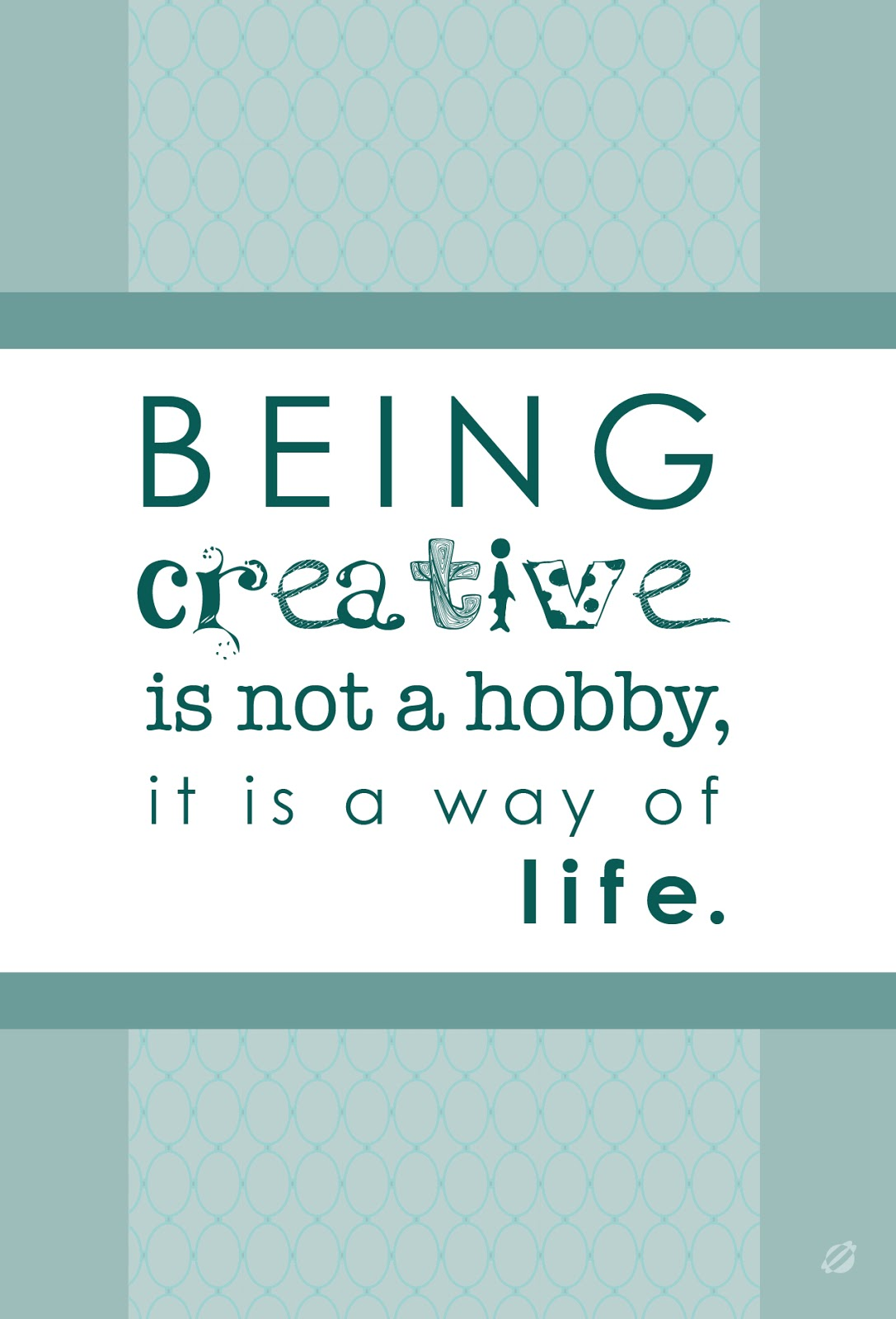being creative Being creative means solving a problem in a new way it means changing your perspective being creative means taking risks and ignoring doubt and facing fears it means breaking with routine and doing something different for the sake of doing something different it means mapping out a thousand.