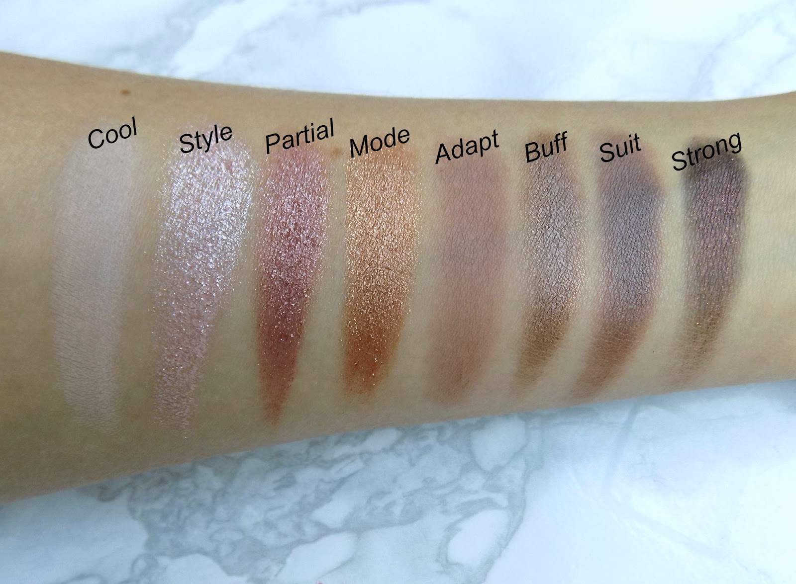 Makeup Revolution 'New-Trals vs Neutrals' palette swatches