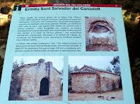 Plafó informatiu de l'ermita de Sant Salvador del Canadell