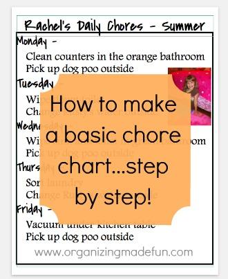 chore chart schedule kids