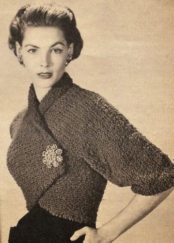 boléro-vintage-années 50-tricot