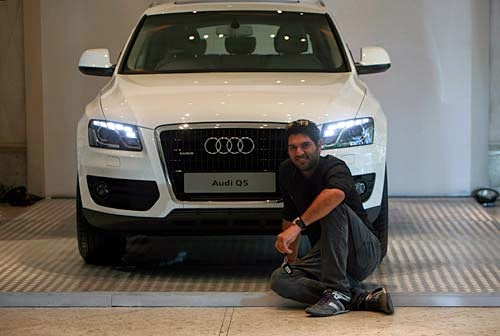 Image result for yuvi with audi