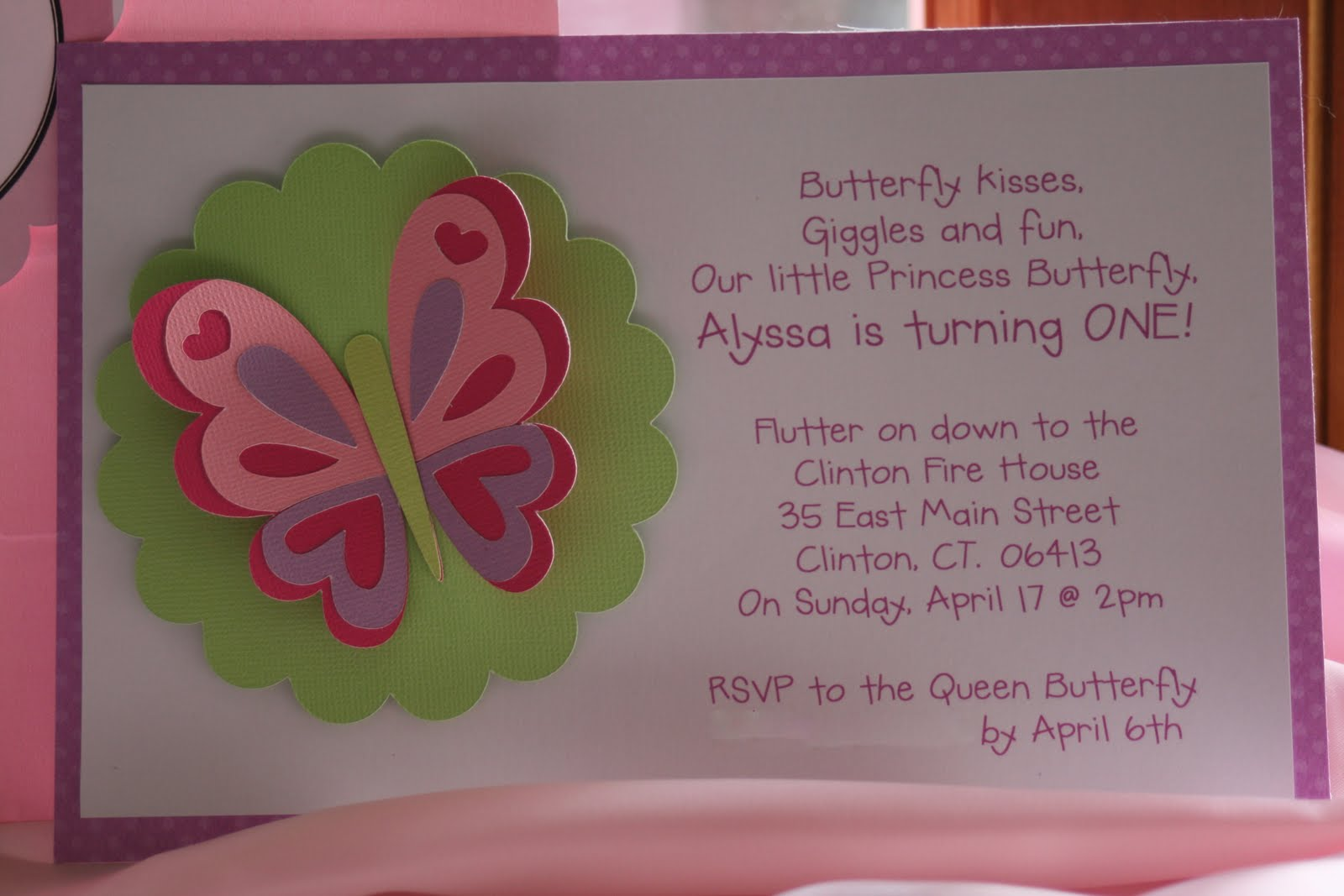 KT Designs: Birthday Series: Butterfly Birthday Party Invitations