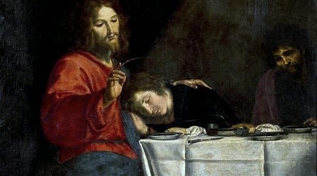 l'Apôtre Jean sur la poitrine de Jésus à la Cène