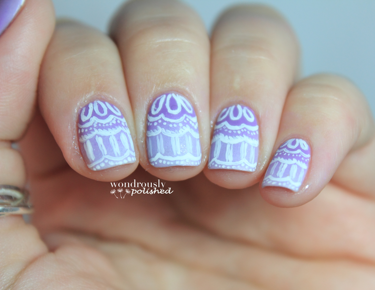 Wondrously Polished: 31 Day Nail Art Challenge - Day 6: Violet Nails