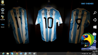 Argentina Football Team Fifa World Cup 2014 Theme For Windows 7 And 8