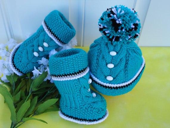 Вязание малышам сапожек