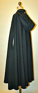 Vintage Calvin Kline hooded cloak with front buttons