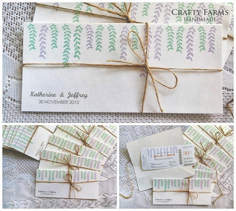 Wedding Card Malaysia | Crafty Farms Handmade : Garden Themed ...