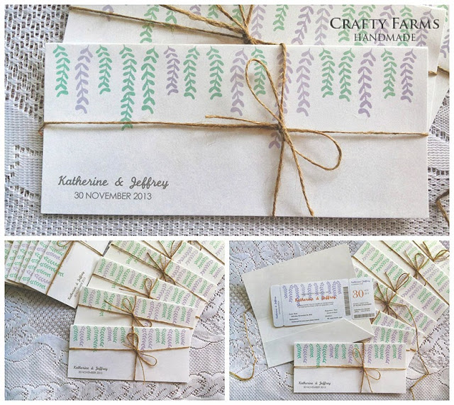 garden vintage church Ipoh Malaysia handmade wedding card