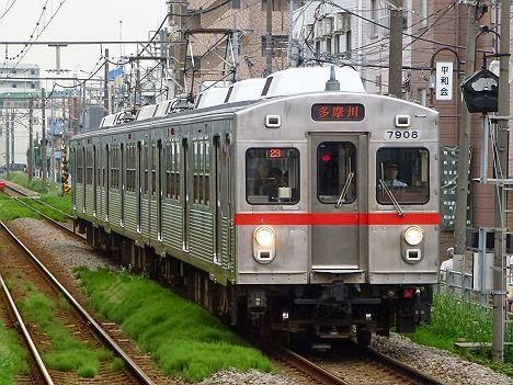 東京急行電鉄多摩川線 多摩川行き1 7700系7908F