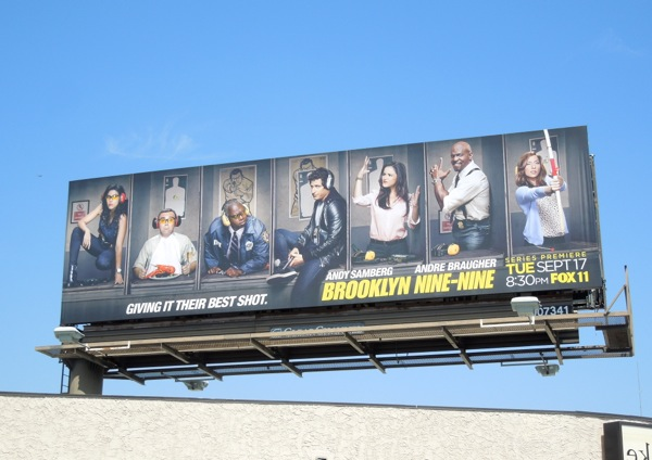 Brooklyn Nine Nine series premiere billboard