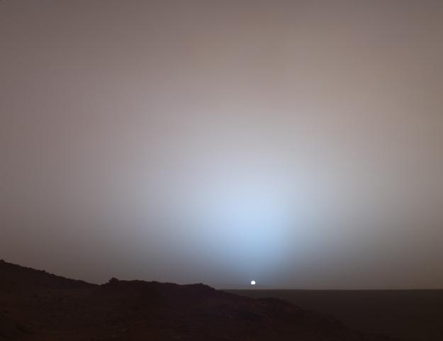 atardecer en marte, ocaso marciano, mars exploration rover spirit opportunity
