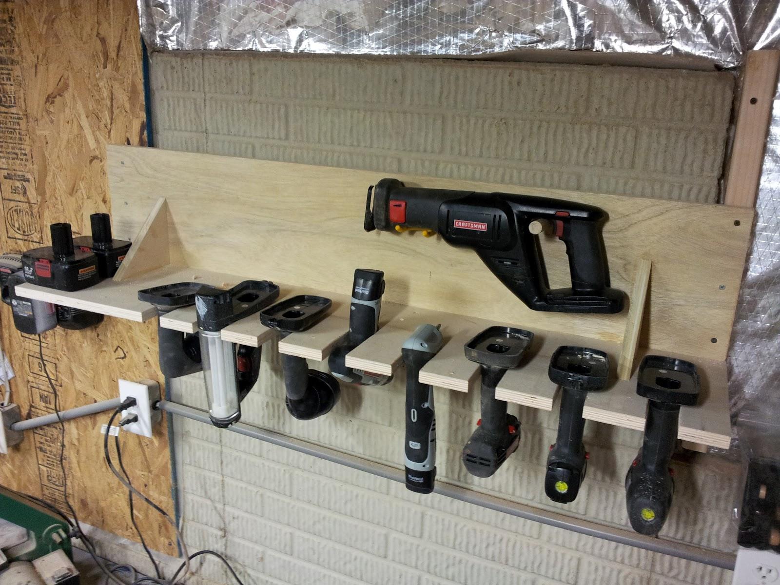 Chad S Workshop Cordless Tool Rack