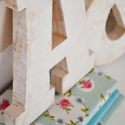 DIY- Litery z drewna