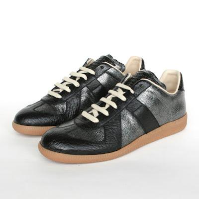 maison martin margiela black gunmetal sneakers trainers