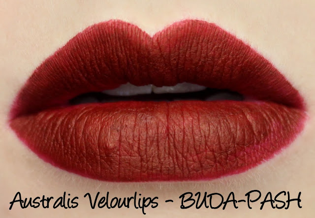 Australis Velourlips Matte Lip Cream - BUDA-PASH Swatches & Review