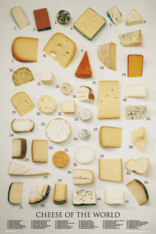how many types of cheese are there