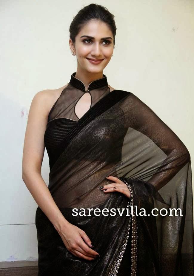 Vaani Kapoor In Black Saree Blouse