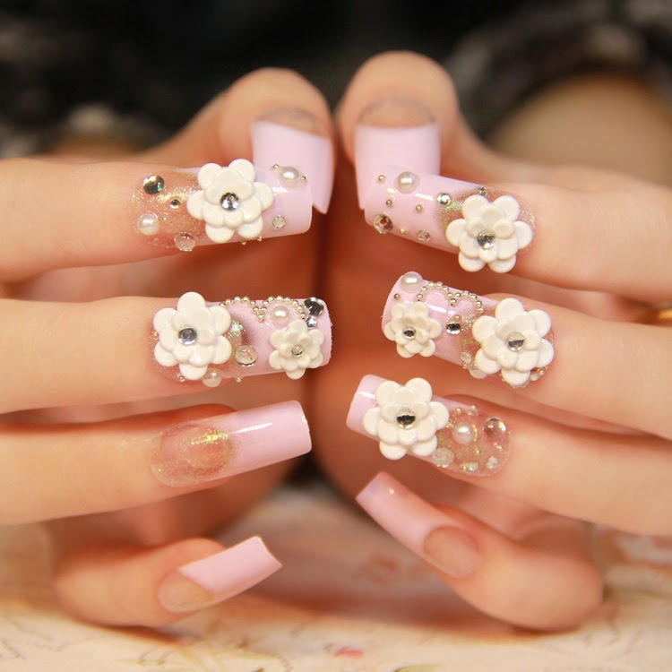 wedding nails designs 2014, cute wedding nails art, nails art 2014