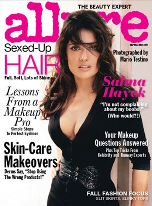 Salma Hayek For ALLURE Recipe !
