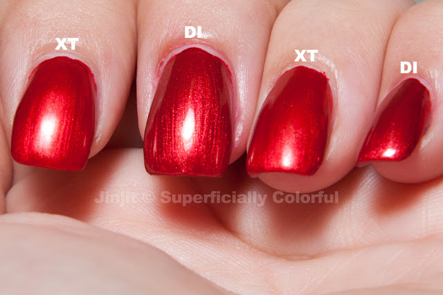 China Glaze Drive In vs. Xtreme Thrash