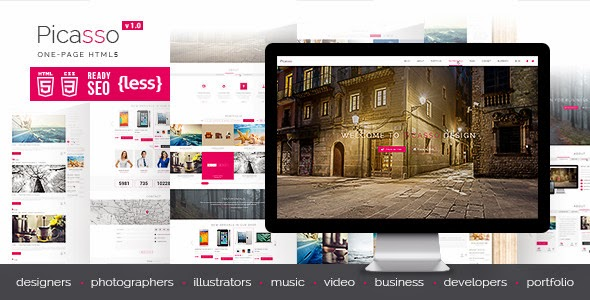 Picasso - Themeforest One Page HTML5 Template
