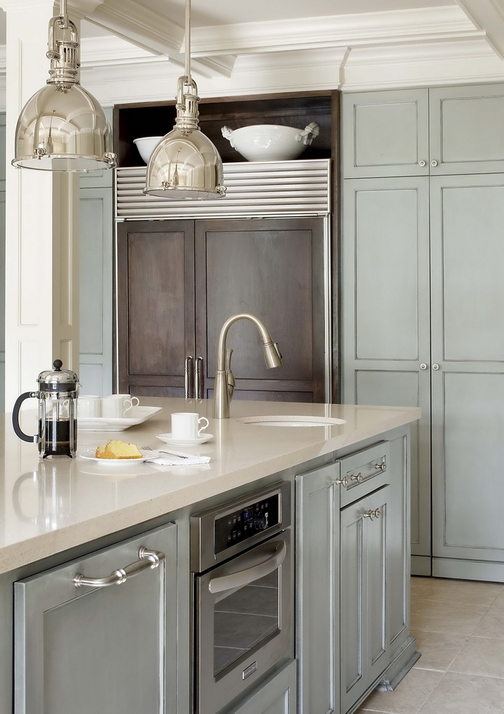 A perfect gray gray kitchen cabinets for Picture perfect kitchens