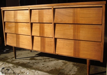 Angled Louvered Drawers Mid Century Modern Dresser Circa 1960s Ward Furniture