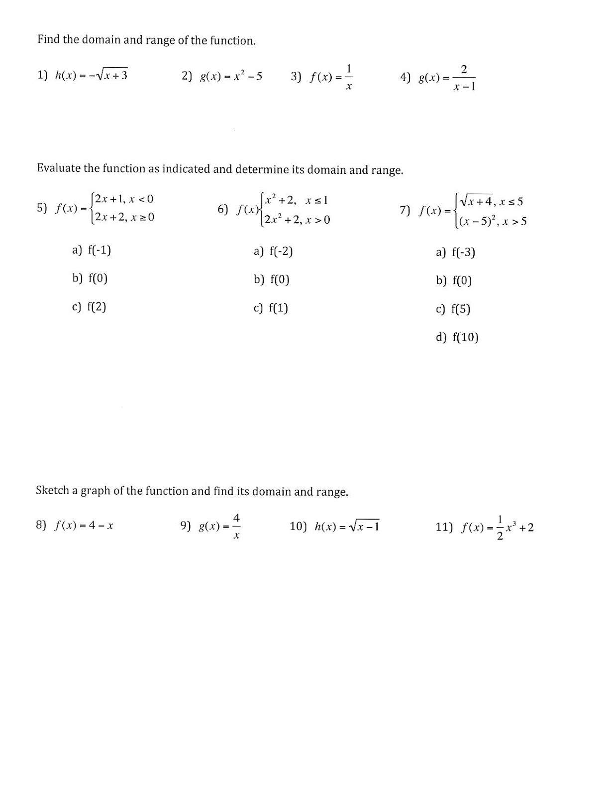 How To Find Range Piecewise Functions Solution For How To For